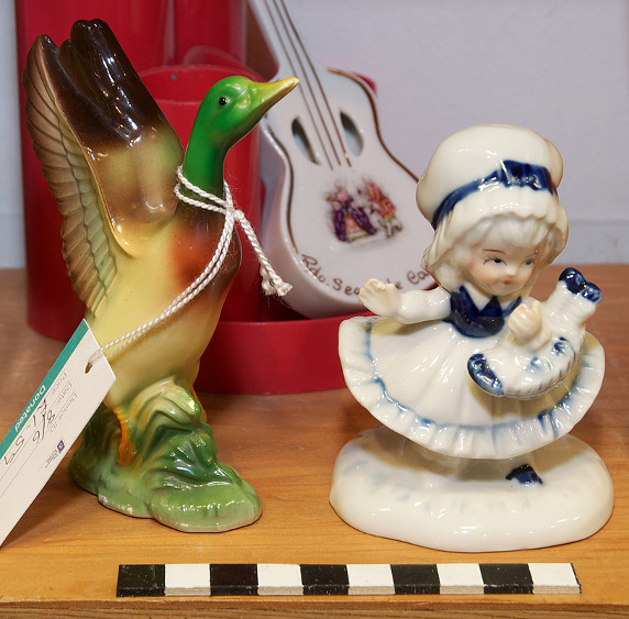 Ducks and porcelain dolls are two particularly popular figurines. Photo by Ralph Mills.