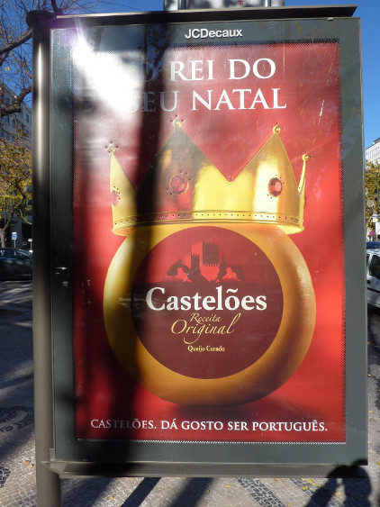 "Advertisement for cheese, says ""The king of your birthplace."" Photo by JCDecaux."