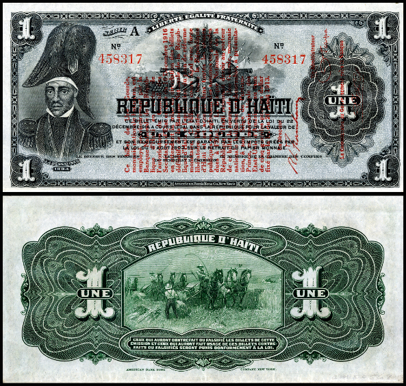 Haitian banknotes from 1916