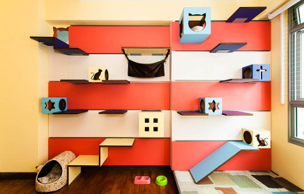 Cat wall by J. En and C. Rand Designs