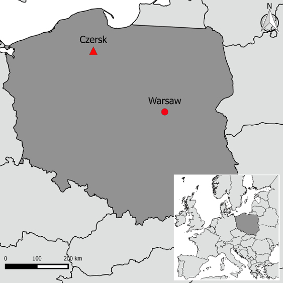 Figure 1. Location of the camp in Czersk.