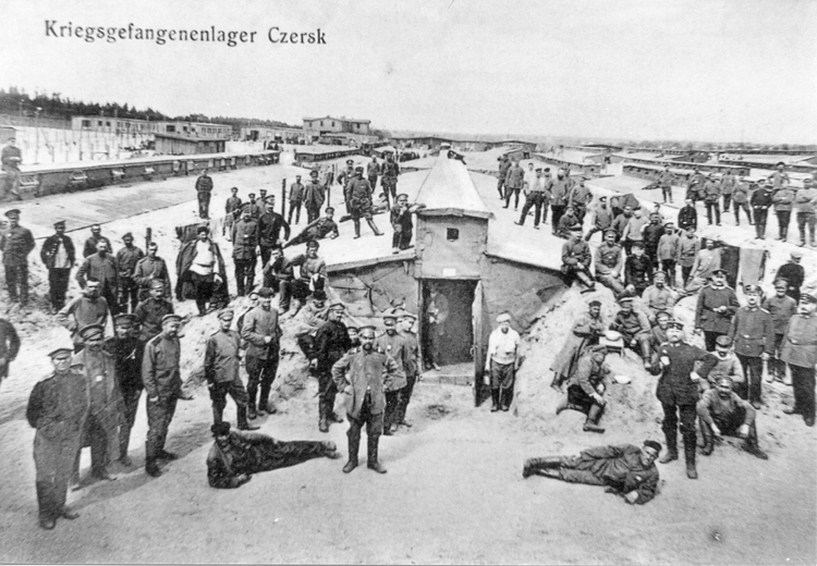 Figure 5. Propaganda German postcard presenting the camp in Czersk (dug-outs in the front).