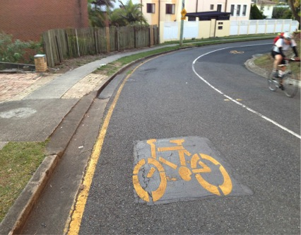 On-road cycling infrastructure in Brisbane