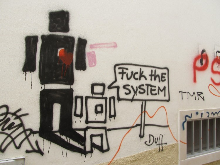 'Fuck the System', Portugal by Erin B. Taylor