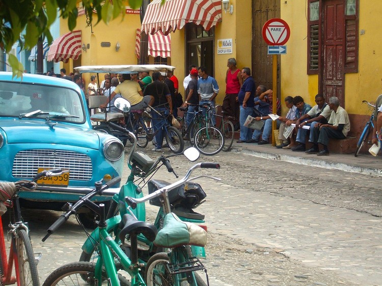 Waiting for the Bus, Trinidad, Cuba by Samuel Victor