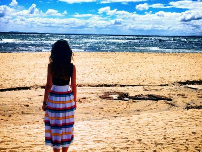 Awesome day at #brightonbeach chilling with my #vintage skirt. #melbourne #beach #ootd #oo7d #igsg.