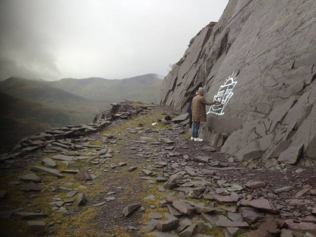 Graffiti Art at Dinorwig Slate Quarry by Jack Murray <rappersdelight532@yahoo.co.uk> (Used with kind permission)