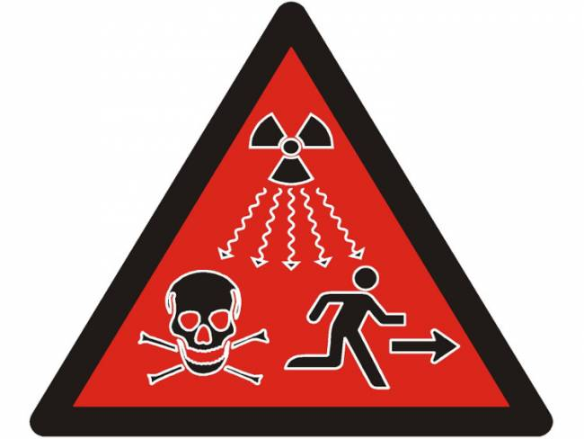United Nations Radioactivity Warning sign