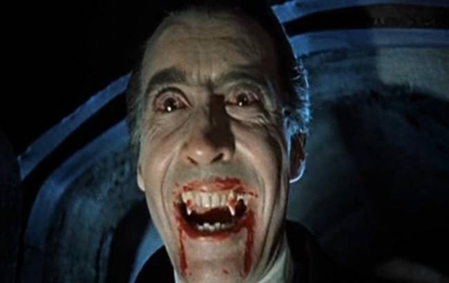 "Dracula! By Screenshot from ""Internet Archive"" of the movie Dracula (1958) [Public domain], via Wikimedia Commons."