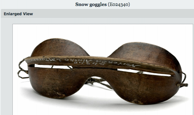 Snow goggles and rotten pears